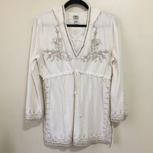 LUCKY BRAND vintage embroidered hoodie AW2
